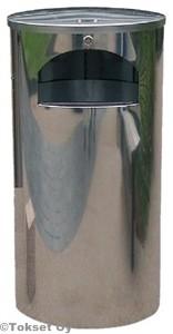 Roska-astia 60 litraa seinä/tolppakiinnitys rst