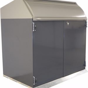 Fireproof shelters for garbage containers